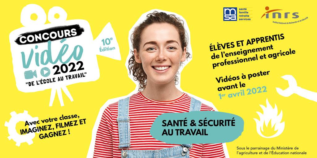 10e édition du concours vidéo - Santé et sécurité au travail